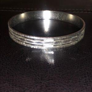 Vintage Metal Bracelet Silver Tone